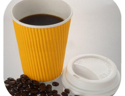 防滑耐熱矽膠咖啡杯套附蓋