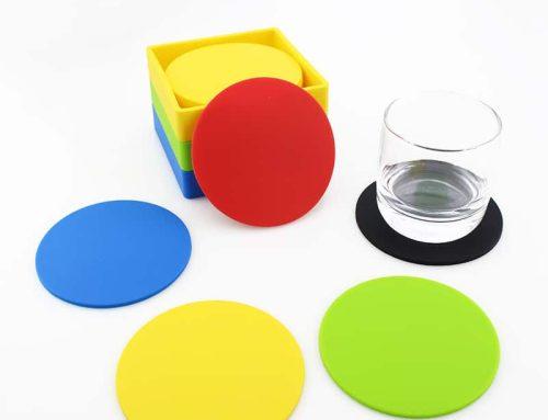 圓形加厚可客定Logo矽膠隔熱止滑杯墊