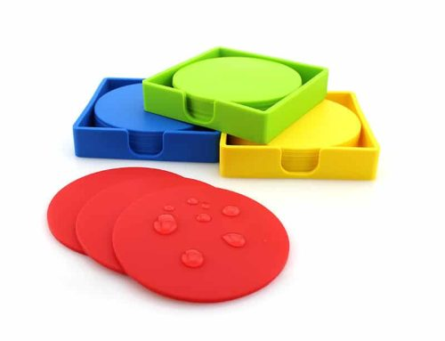 圓形方形可客定Logo矽膠隔熱止滑杯墊套裝組