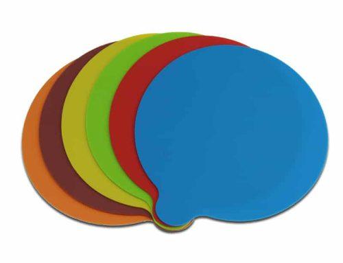 卡通純色圓形可客定Logo矽膠隔熱止滑杯墊